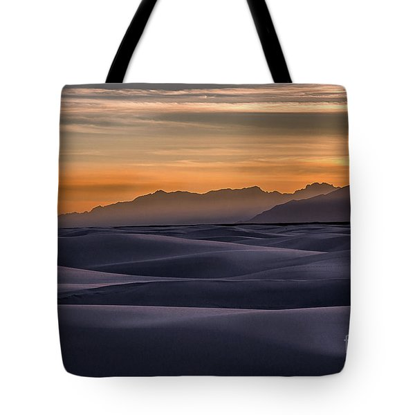 Dusk At White Sands Tote Bag