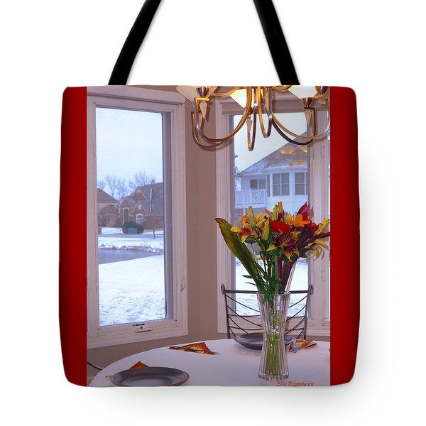 Dusk Dining View Tote Bag