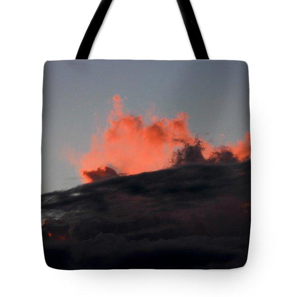 Dusk Eruption Tote Bag by Kim Cellon