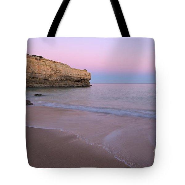 Dusk In Albandeira Beach Tote Bag