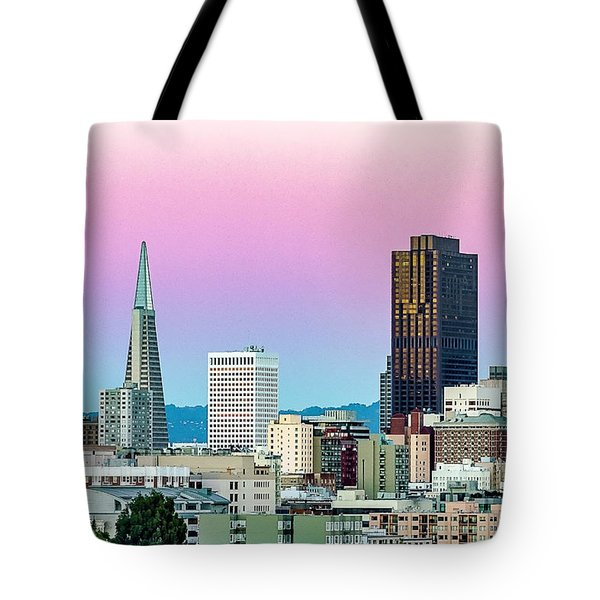 Tote Bag featuring the photograph Dusk In San Francisco by Bill Gallagher