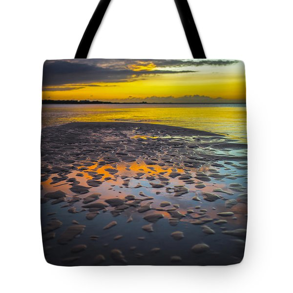 Dusk On Cayo Coco Tote Bag by Valerie Rosen
