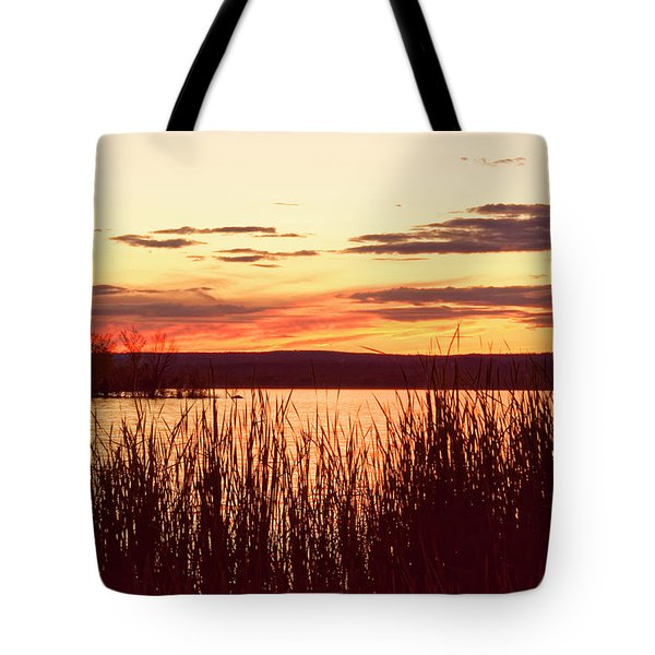 dusk on Lake Superior Tote Bag