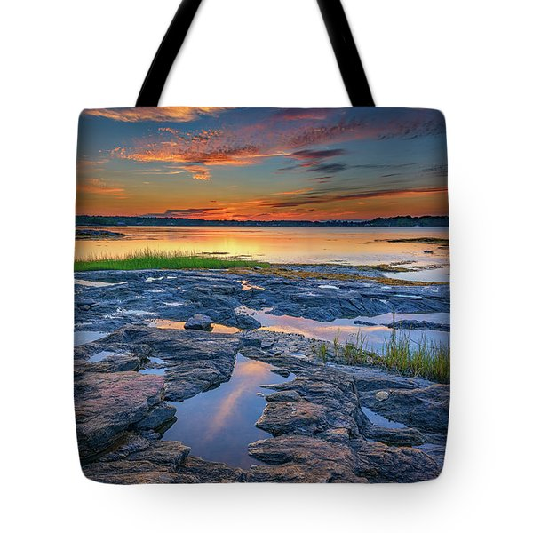 Dusk On Littlejohn Island Tote Bag