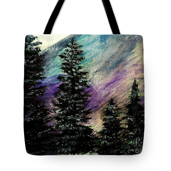 Dusk On Purple Mountain Tote Bag