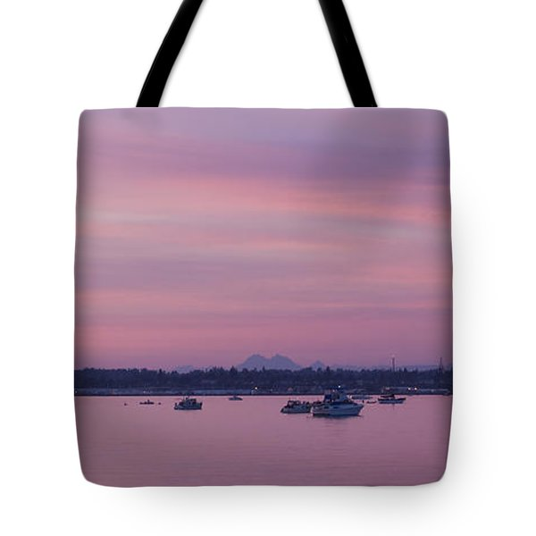 Dusk On The Bay Tote Bag by Idaho Scenic Images Linda Lantzy