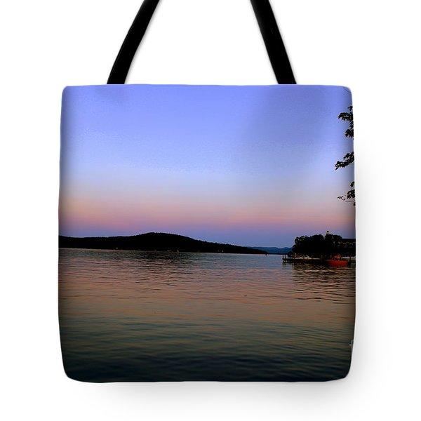Dusk On The Lake Tote Bag