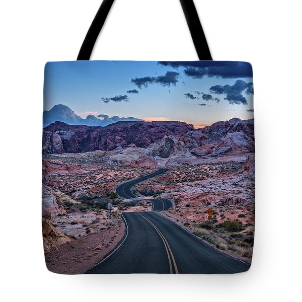Dusk On The Open Road Tote Bag