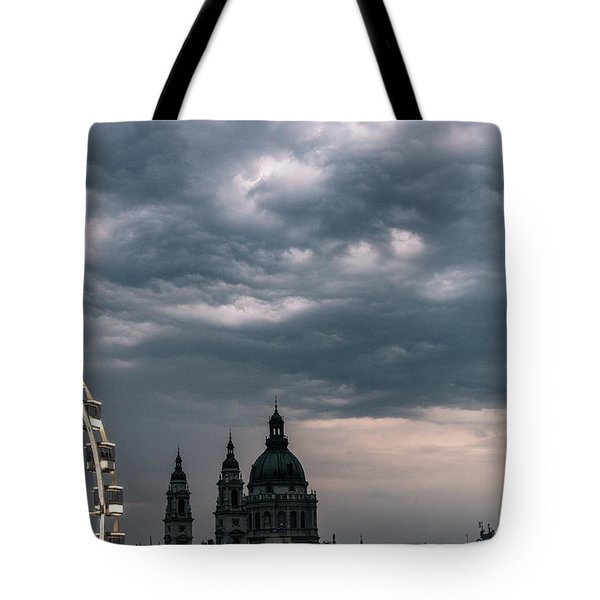 Tote Bag featuring the photograph Dusk Over Budapest by Alex Lapidus