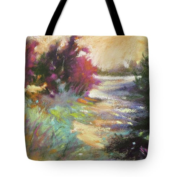 Dusk Over The Marshes Tote Bag by Rae Andrews