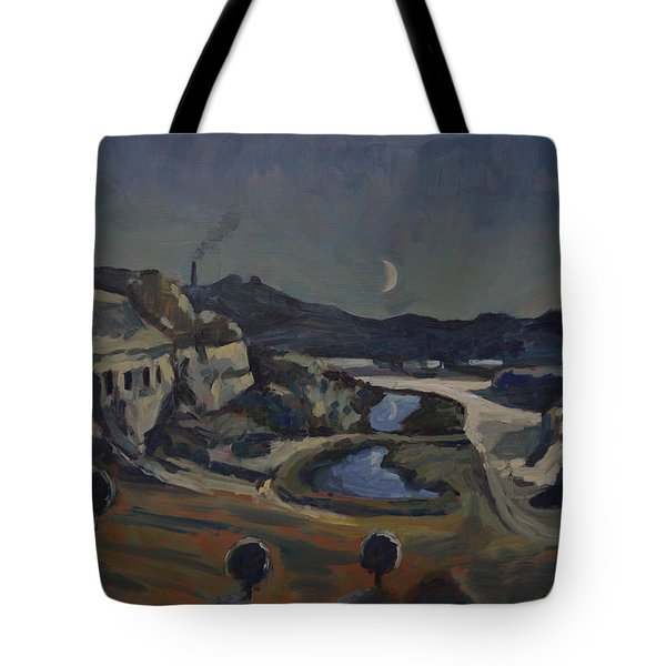 Tote Bag featuring the painting Dusk Over The Sint Pietersberg by Nop Briex