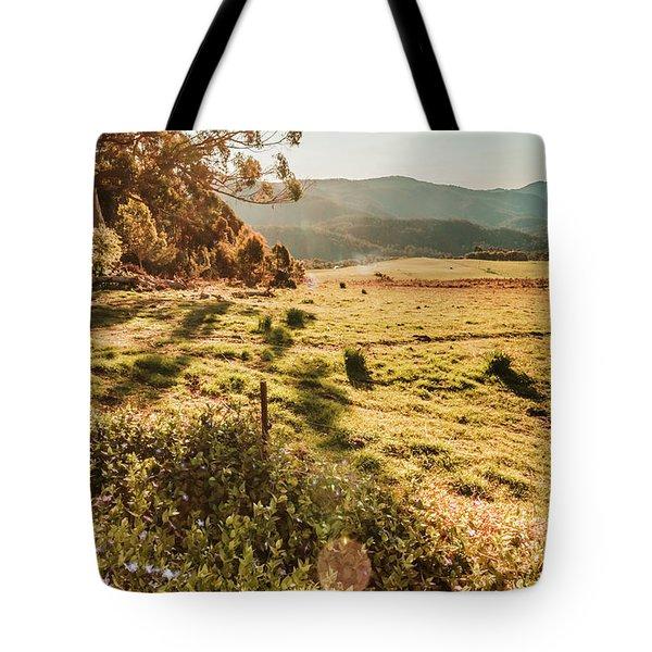 Dusky Fields Tote Bag