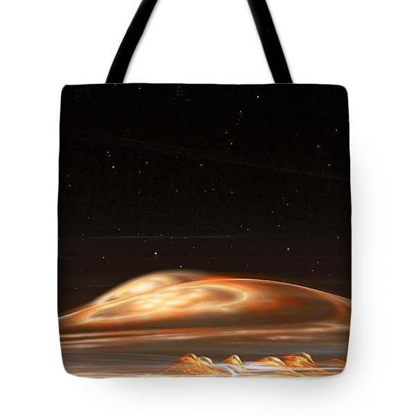 Tote Bag featuring the digital art Dust Storm On The Red Planet by Richard Ortolano