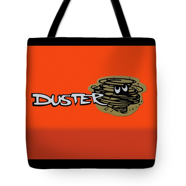 Tote Bag featuring the photograph Duster Emblem by Mike McGlothlen