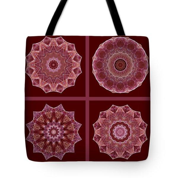 Dusty Rose Mandala Fractal Set Tote Bag