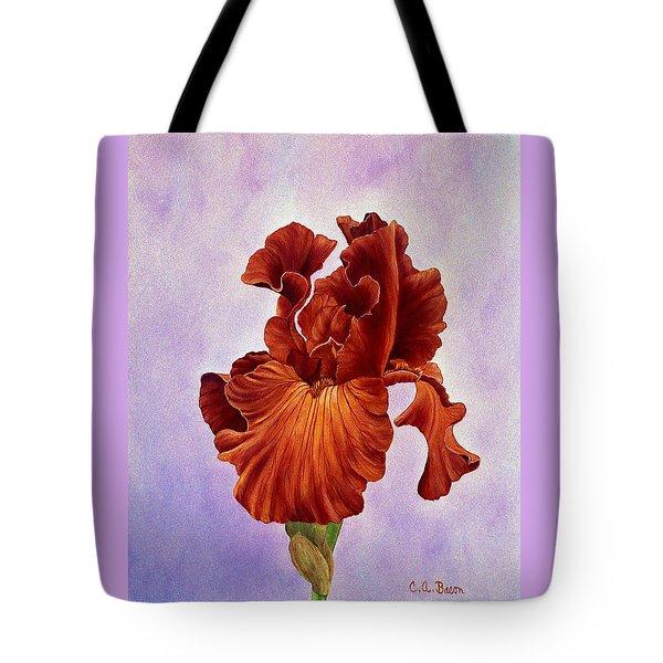 Dutch Chocolate Bearded Iris Tote Bag