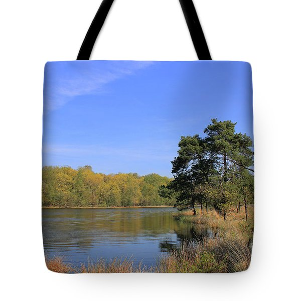 Dutch Countryside With Lakes, Trees, Meadows Tote Bag