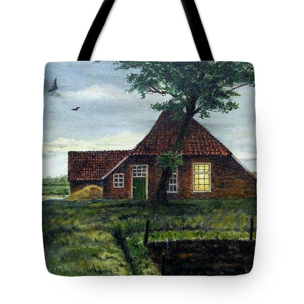 Dutch Farm At Dusk Tote Bag