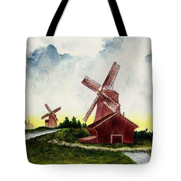 Dutch Windmills Tote Bag by Michael Vigliotti