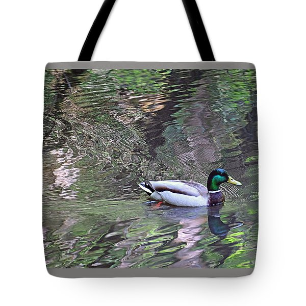 Tote Bag featuring the photograph Duck Patterns by Suzy Piatt