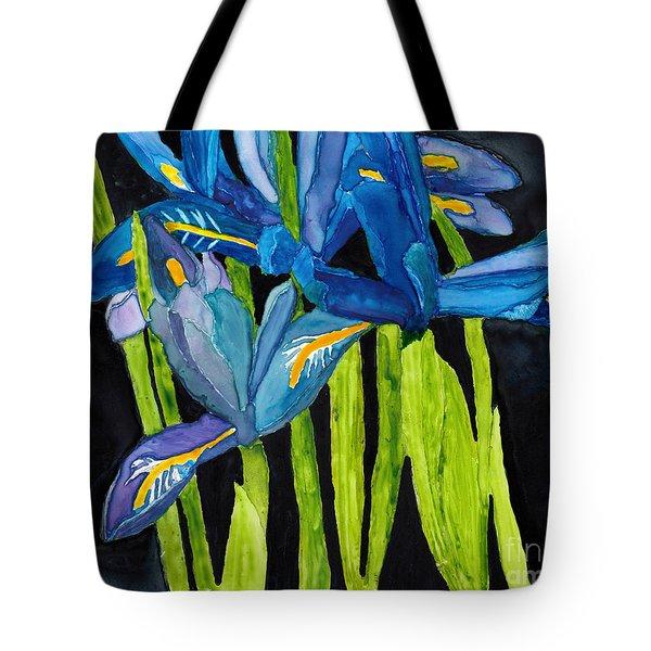 Dwarf Iris Watercolor On Yupo Tote Bag