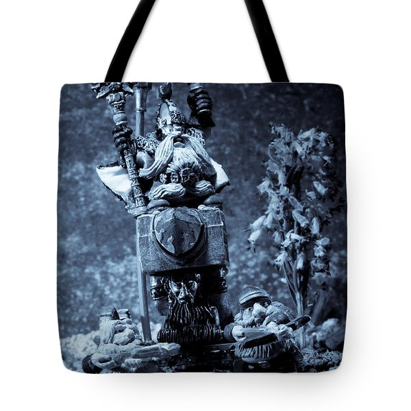 Dwarven Holy Anvil Tote Bag by Marc Garrido