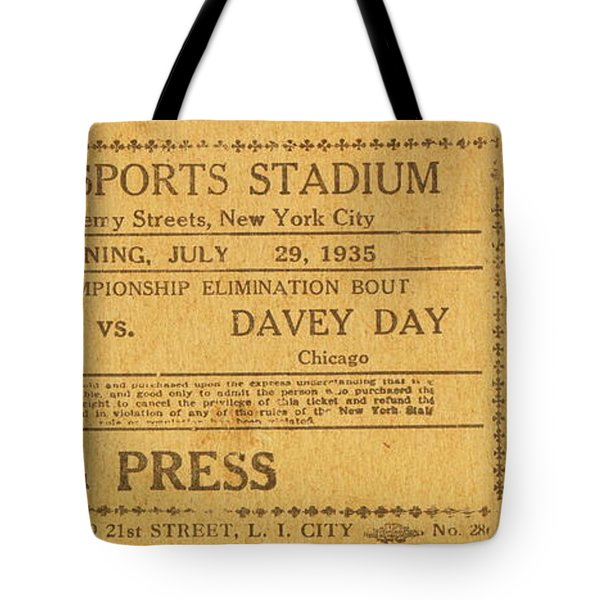 Dyckman Oval Ticket Tote Bag by Cole Thompson