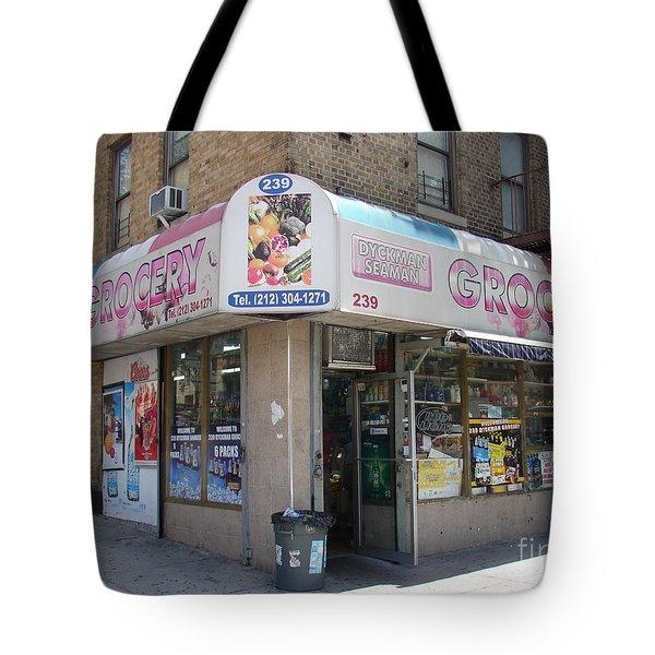 Dyckman Seaman Grocery  Tote Bag by Cole Thompson