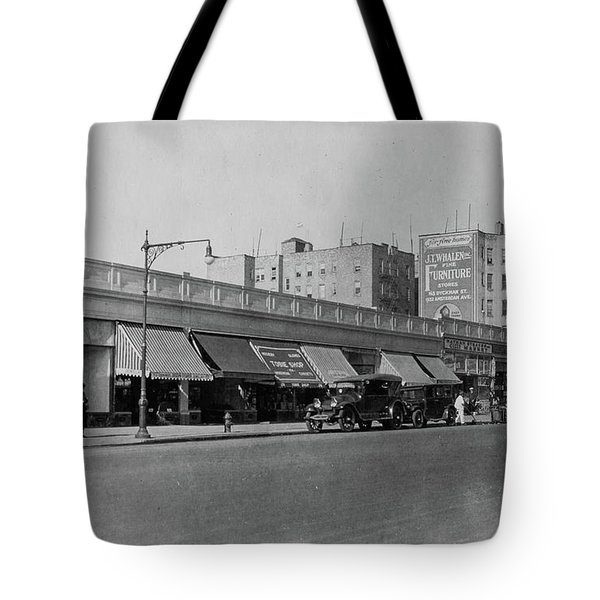Tote Bag featuring the photograph Dyckman Street, 1927 by Cole Thompson