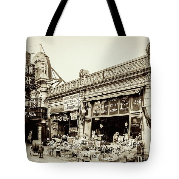 Tote Bag featuring the photograph Dyckman Theater, 1926 by Cole Thompson