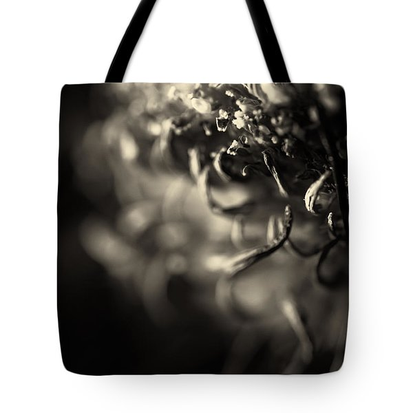 Faded Chrysanthemum Flower Abstract Print Tote Bag
