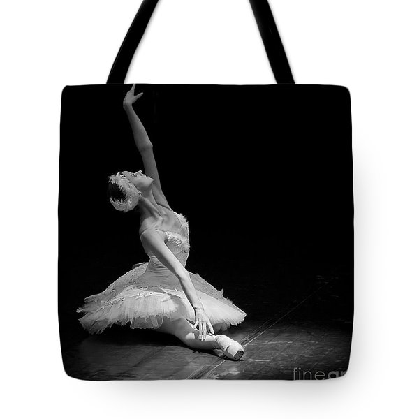 Dying Swan II. Tote Bag by Clare Bambers