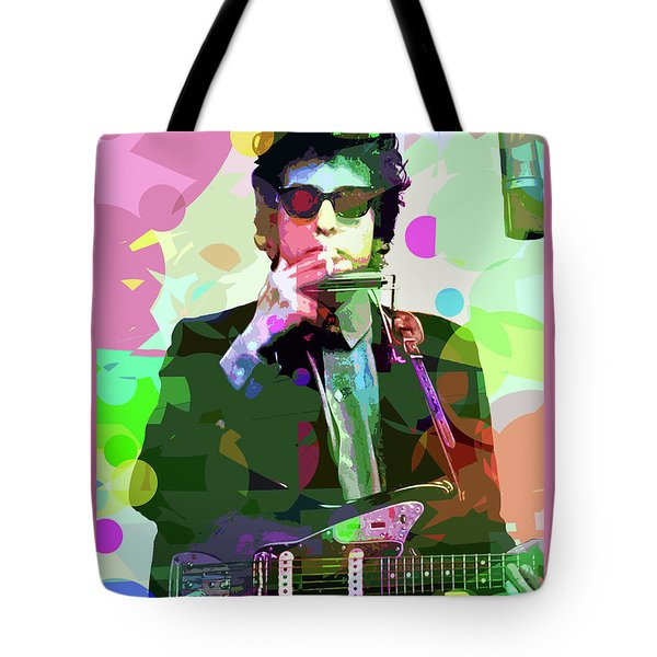 Dylan In Studio Tote Bag by David Lloyd Glover