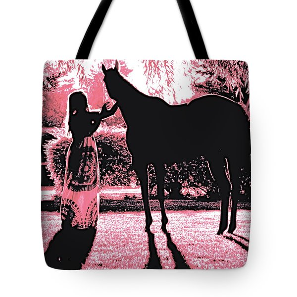 Dylly And Lizzy Pink Tote Bag