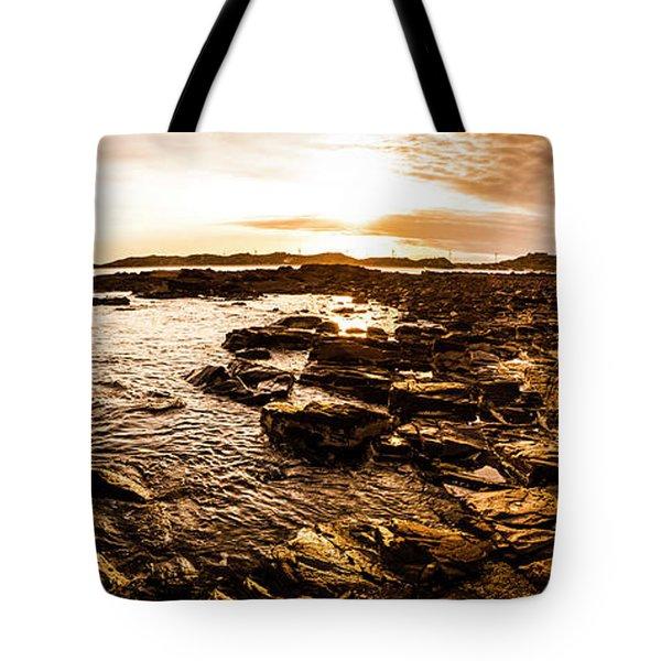 Dynamic Ocean Panoramic Tote Bag