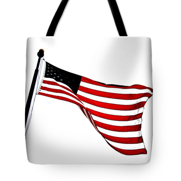 Dynamic Stars And Stripes Tote Bag