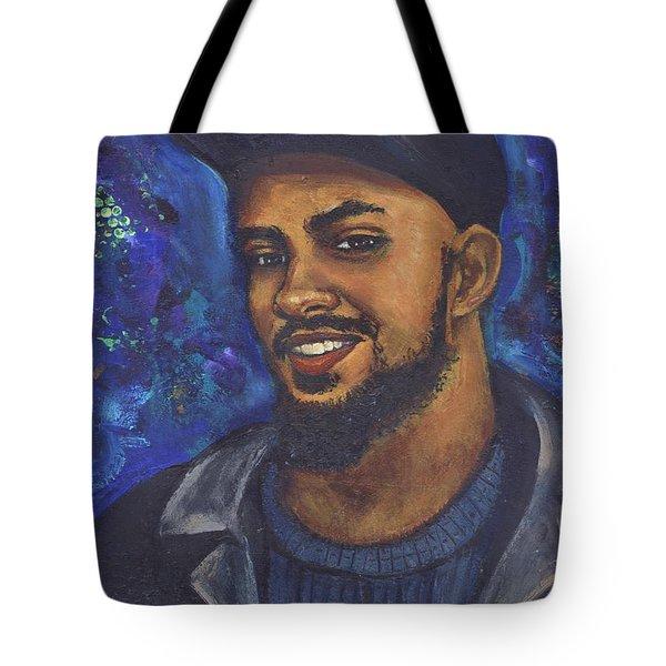 Tote Bag featuring the painting E by Alga Washington