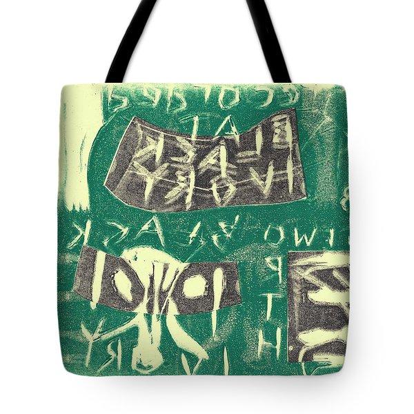 E Cd Grey And Green Tote Bag