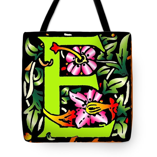 E In Green Tote Bag by Kathleen Sepulveda