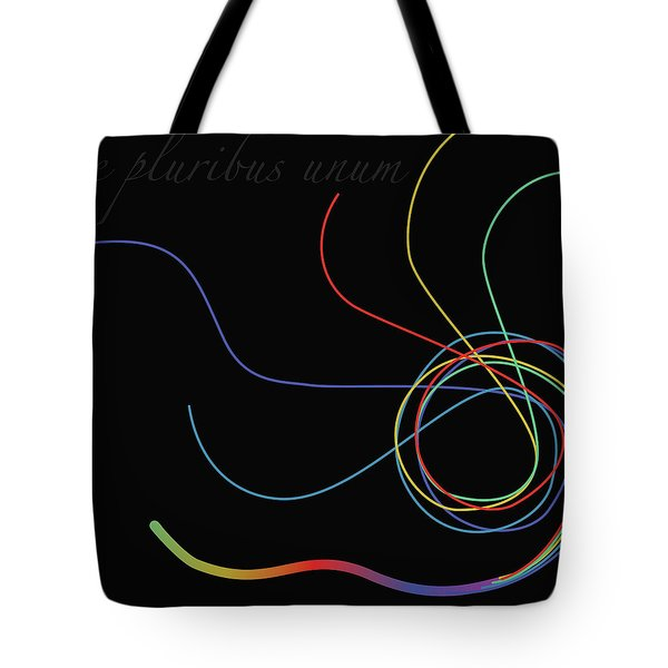 Tote Bag featuring the digital art E Pluribus Unum by Gina Harrison