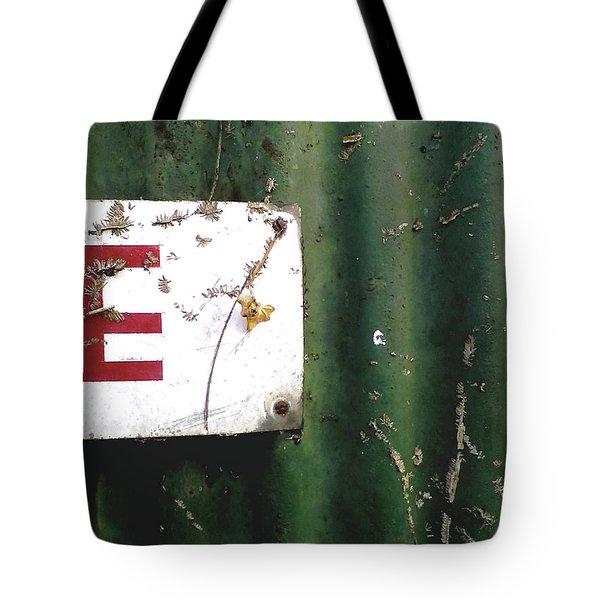 Tote Bag featuring the photograph E by Rebecca Harman