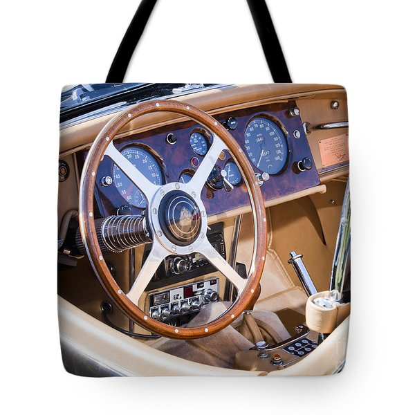 E-type Jaguar Dashboard Tote Bag