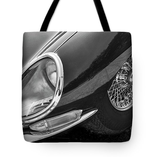 Tote Bag featuring the photograph E-type Monotone by Dennis Hedberg