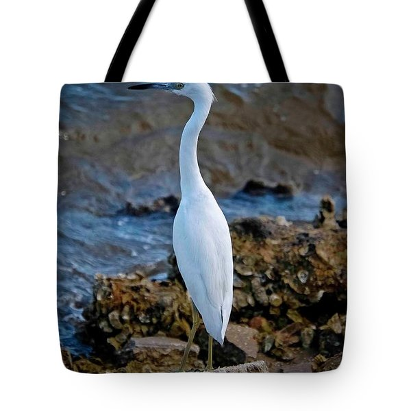 Eager Egret Tote Bag