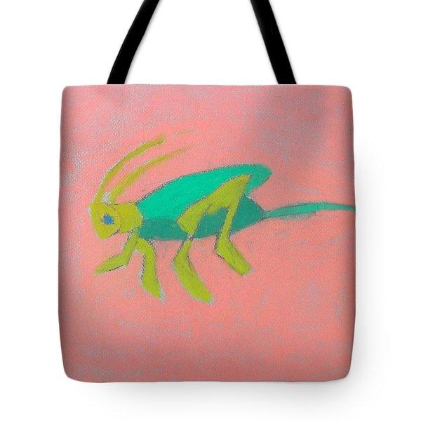 Eager Grasshopper Tote Bag