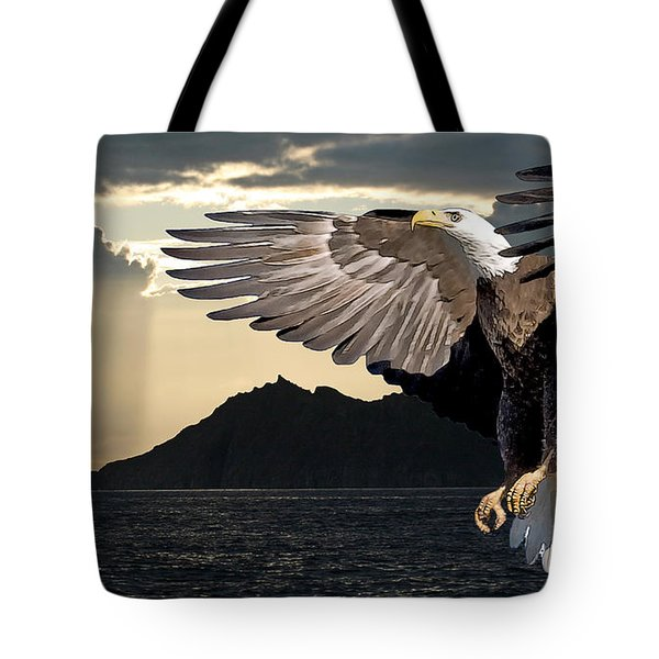Eagle At Dawn Tote Bag
