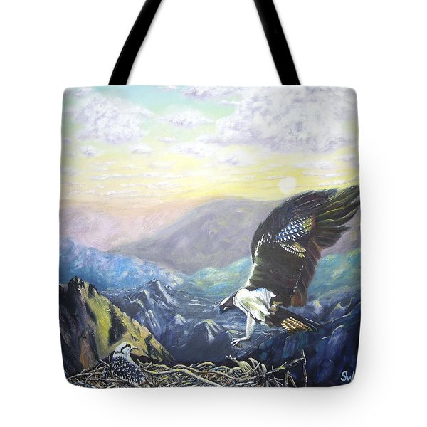 Eagle At Home Tote Bag