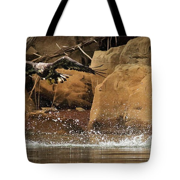 Tote Bag featuring the photograph Eagle Attack by Douglas Stucky