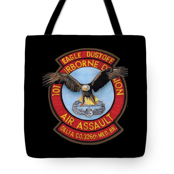 Eagle Dustoff Tote Bag by Bill Richards