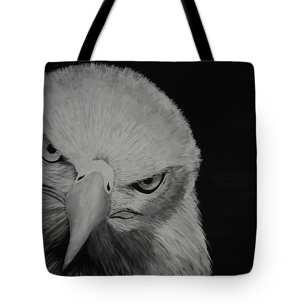 Tote Bag featuring the painting Raptor by Edwin Alverio